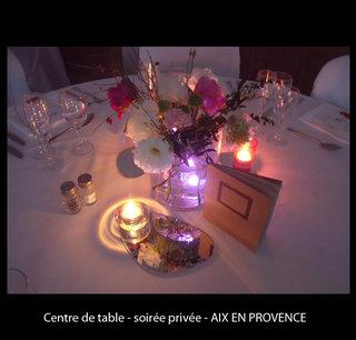 Centre de table - soirée privée