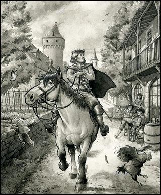 D'Artagnan, chemin faisant (détail)