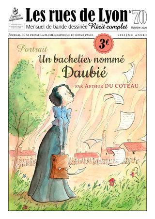 """Couverture du mensuel BD """"Les rues de Lyon"""" n°70"""