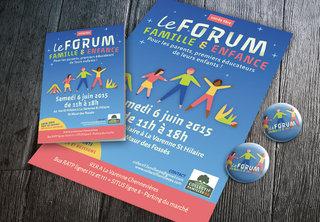 Affiche et dépliant Le Forum de l'enfance