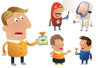 Illustrations et animation pour INRS