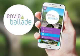 Interface de l'application Envie de Ballade