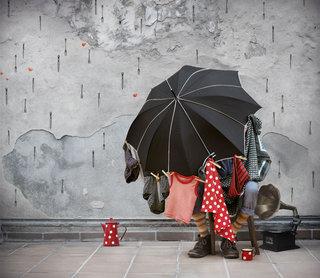 Le parapluie de monsieur Roland / album jeunesse / édition La marmite à mots / 2016 / Texte Ariane Duclert