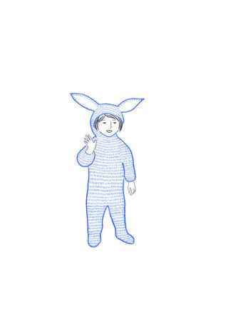 Enfant déguisé en lapin