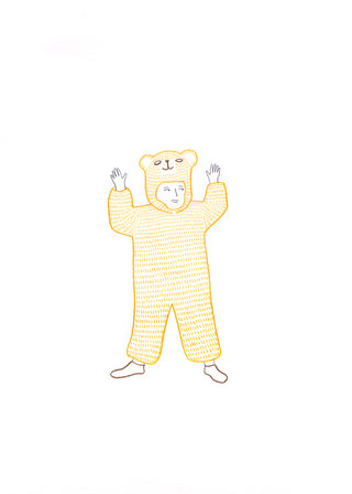 Enfant déguisé en ours