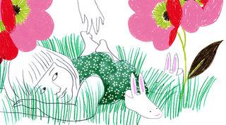 Jardin, chatouille et calin