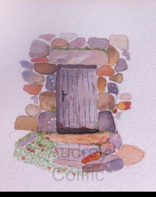 Aquarelle_Door_and_rocks