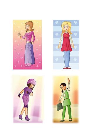 Etudes personnages féminins 2012