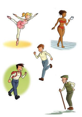 Etudes de personnages style 1 2011