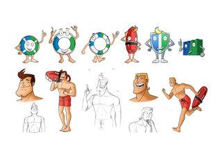 Propositions de mascottes symbolisant la sécurité informatique 2013 (non retenues)