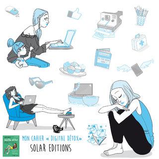 """cahier """"digital détox"""" SOLAR EDITION"""