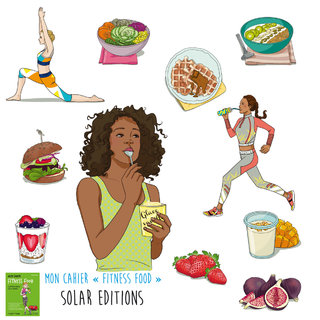 """cahier """"fitness food"""" SOLAR EDITIONS"""
