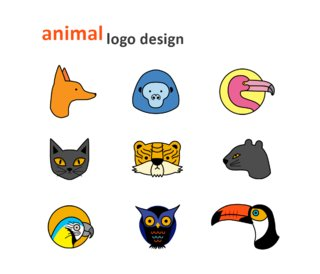 Animal logo design couleur