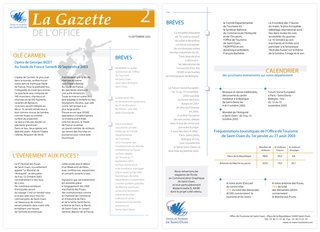 Gazette Office de tourisme