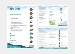 Affiche & dépliant Université virtuelle pour le Développement Durable