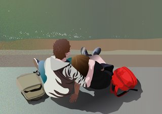 un couple au bord de la Seine