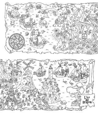 Le trésor de l'île du Dragon (détail)