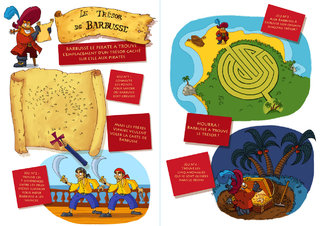 "Double page de jeux ""Pirates"""