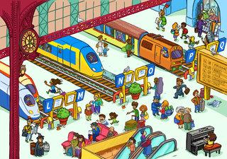 Cherche et trouve - A la gare