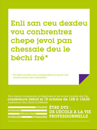 Affiche teasing dyslexie
