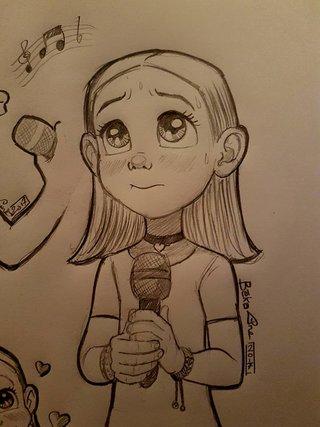 petite chanteuse