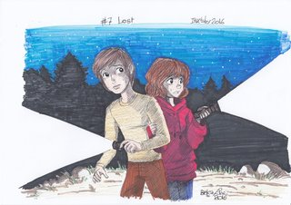 Jack and Lili lost in the dark forest.