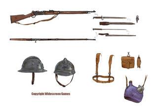 équipement soldat français 14-18