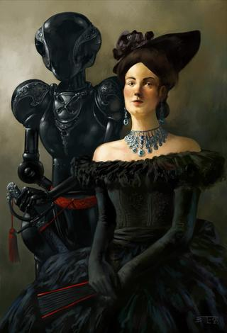 LADY WITH ROBOT