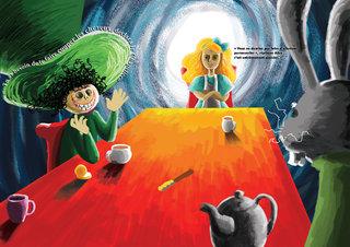 Illustration et mise en page Alice / Illustration and layout