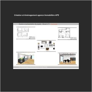 Création et Aménagement agence Immobilière APS