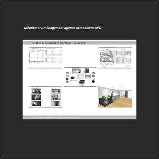 Création et Aménagement agence Immobiliere APD