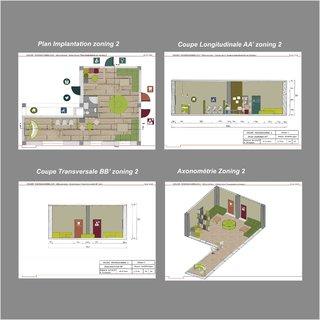 Plans Coupes et Axonométrie /Zoning 2