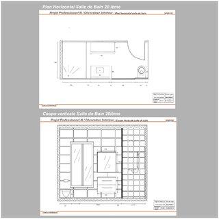 Plan Horizontal et Coupe Verticale SDB 20 ième