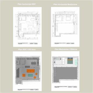 Plans horizontaux et Mezzanine 1/50e
