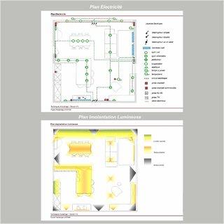 Plan Implantation Lumineuse et Plan electricité