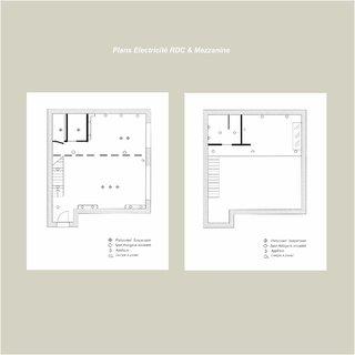 Plans Electricité rdc et Mezzanine