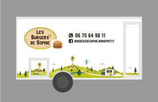 """Covering du foodtruck """"Les Burgers de Sophie"""" - Face opposée au client"""