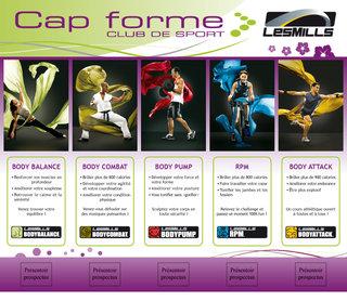 Panneau informatif - Cap Forme (descriptif des formules).