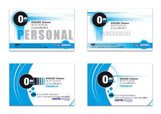 Cartes de visite - ODBI (coaching personnel).