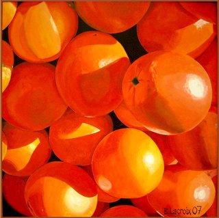 Oranges au soleil