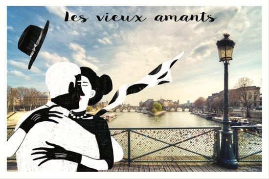 """""""LES VIEUX AMANTS"""" - Carte postale -CARAVELLE"""