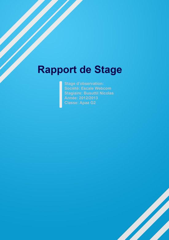Pin Modle Rapport De Stagejpg on Pinterest