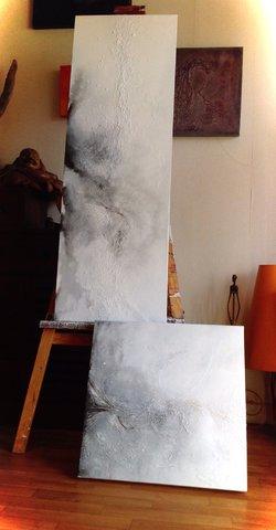 """Série """"En mouvement"""" - filasse et acrylique"""