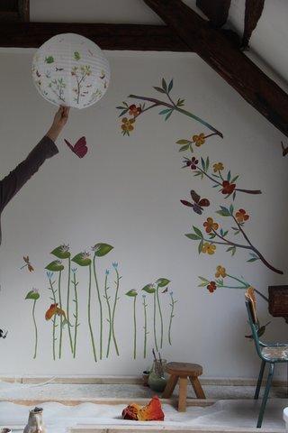 chambre d'enfant, décor peint