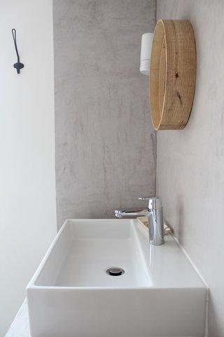 Réalisation béton ciré salle de bain