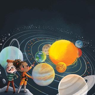 couverture Estelle et Noé à la découverte de l'Univers