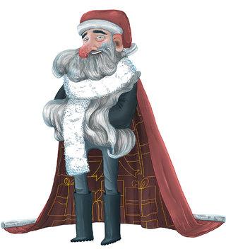 Père-Noël et Jolie cape