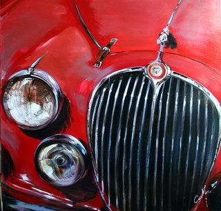 Détail jaguar rouge