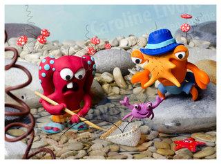 > La pêche aux crabes