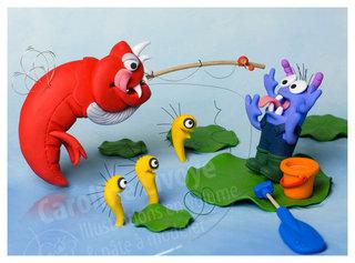 > A la pêche...